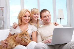 car title loans Surprice CityFamily with computer